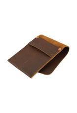 Charred Embers & Oak Leather Double Pen Case