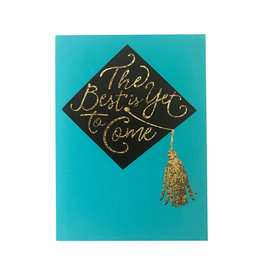 Graduation Cap with Metallic Detail