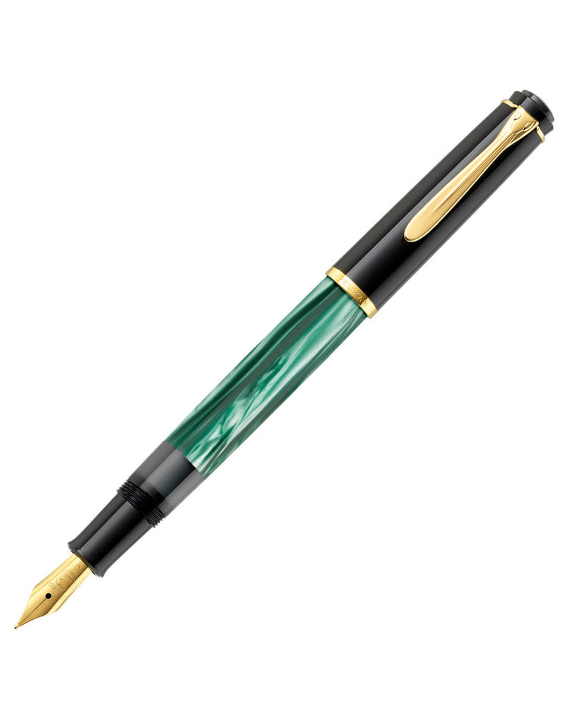 Pelikan Pelikan Tradition M200 Fountain Pen Green Marble Fine Nib