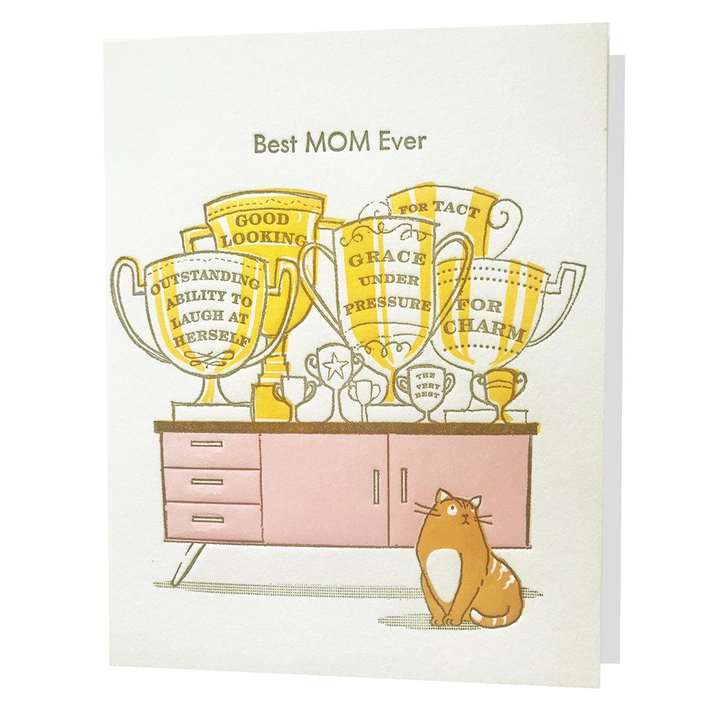 Ilee Papergoods Trophy Mom Letterpress Card