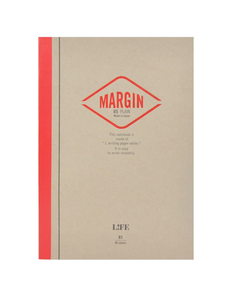 Life Life Notes Margin Side Bound Pad - Red