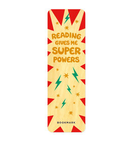 Night Owl Paper Goods Super Powers Wooden Bookmark