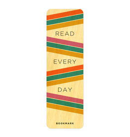 Night Owl Paper Goods Read Every Day Wooden Bookmark
