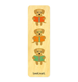 Night Owl Paper Goods Reading Retriever - Wooden Bookmark