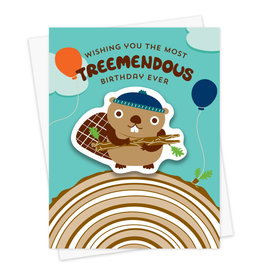 Night Owl Paper Goods Treemendous Birthday Sticker Card