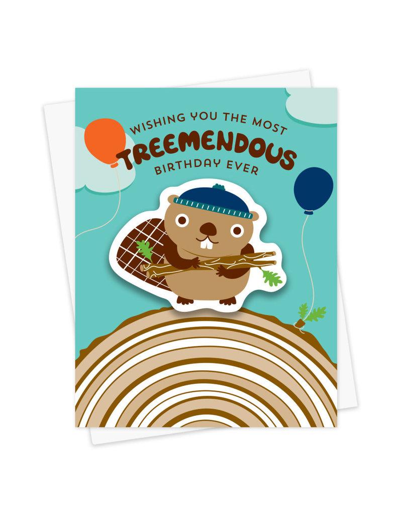 Night Owl Paper Goods Treemendous Birthday Sticker Card