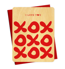 Night Owl Paper Goods XOXO Wooden Card
