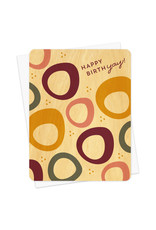 Night Owl Paper Goods Happy BirthYay Wooden Card