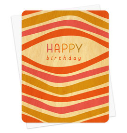 Night Owl Paper Goods Happy Birthday Wooden Card