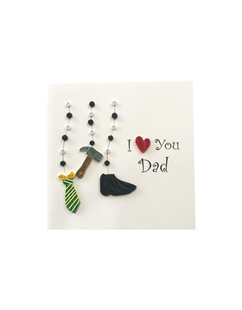 Quilled I heart you dad
