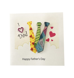 Quilled Father's Day Ties
