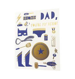 Dad My Hero Letterpress Card