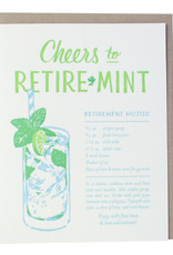 Smudge Ink Mojito Recipe Retirement Letterpress Card