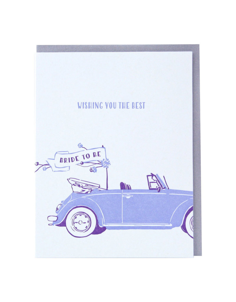 Smudge Ink Bridal Buggy Engagement Card