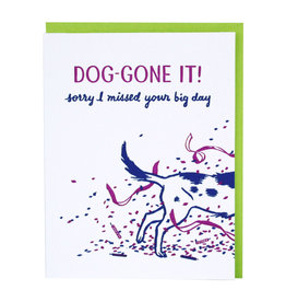 Smudge Ink Late Puppy Belated Card