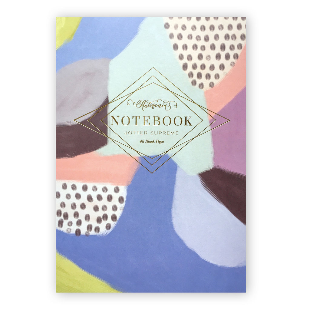 Lilac Abstract Blank Notebook