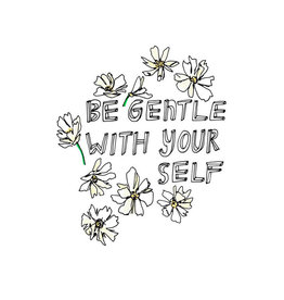 Be Gentle Art Card