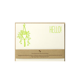 Fugu Fugu Press Hello Hanging Plant Note Set