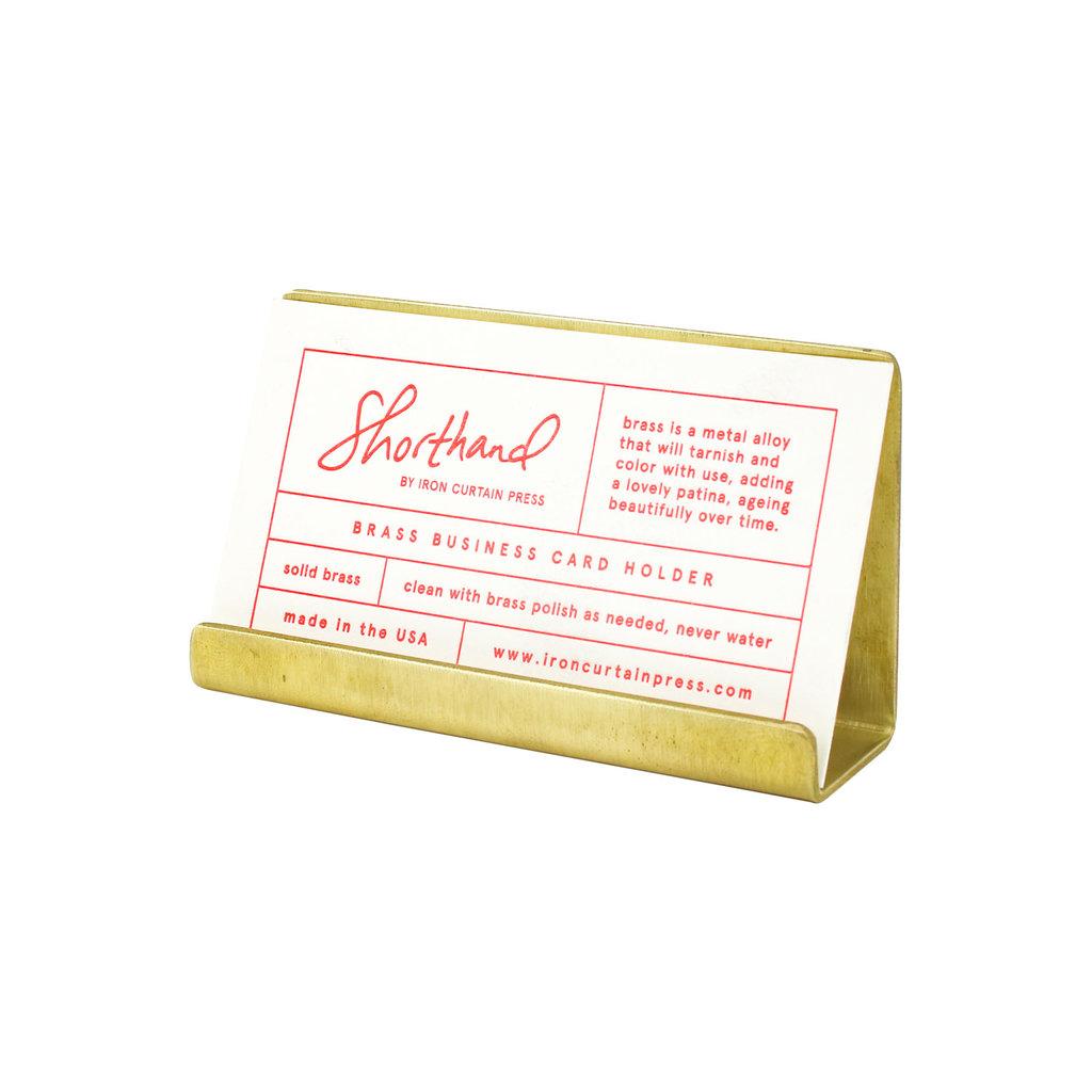 Brass Business Card Holder