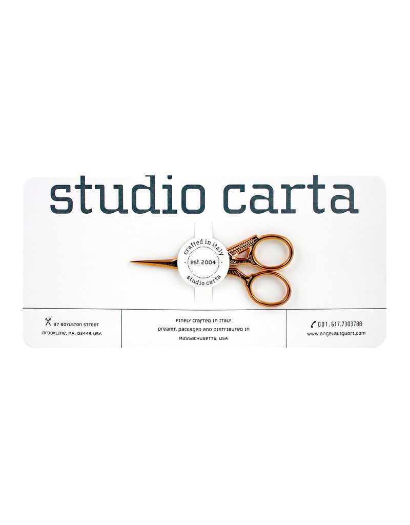 studio carta Rose Gold Crane Scissors - small
