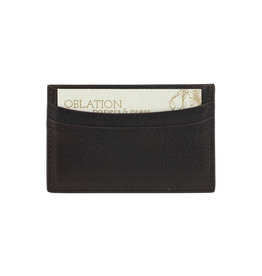 Slim Design Card Case - Brown Vachetta Leather