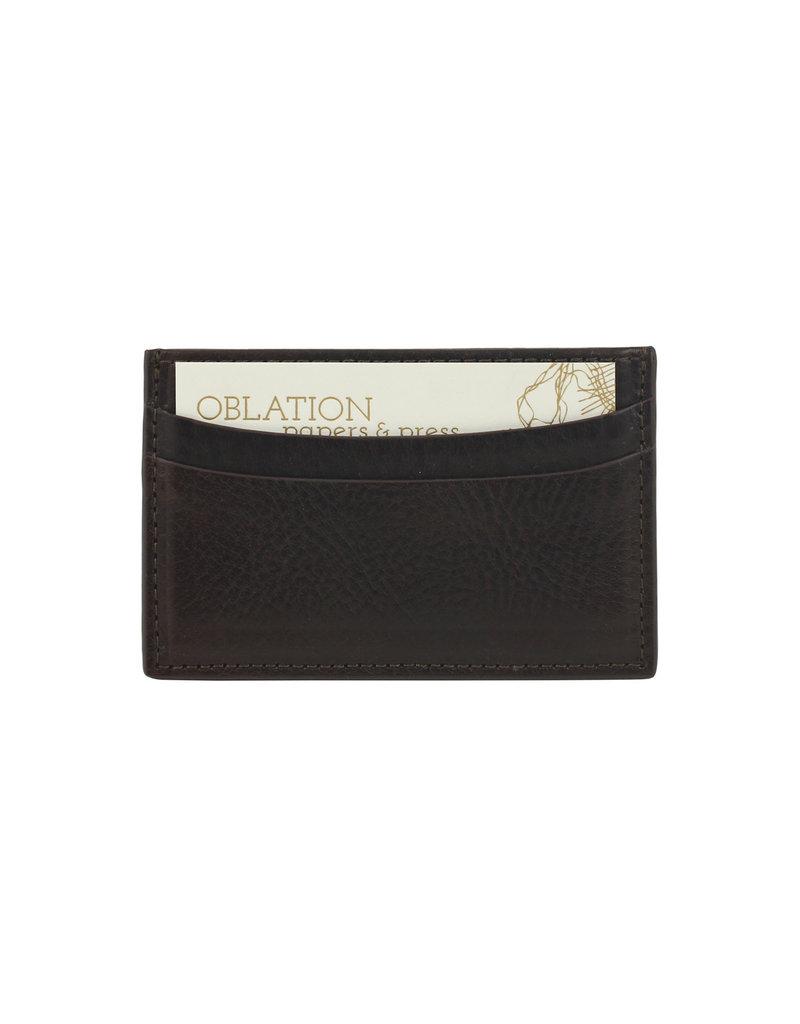 Slim Design Card Case - Brown Vachetta Leather