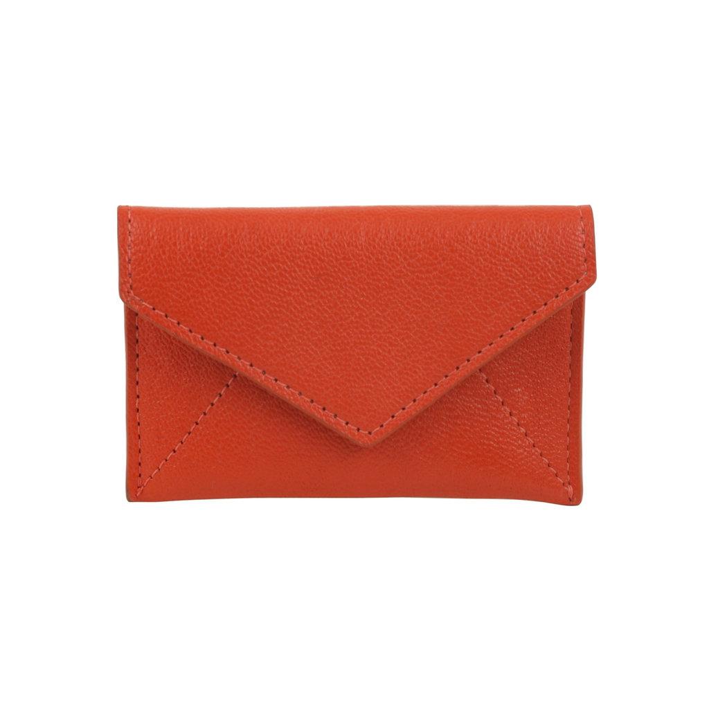 Mini Leather Envelope Orange