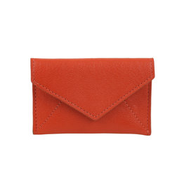 Mini Leather Envelope Orange
