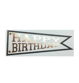 Big Wheel Press Happy Birthday Pennant