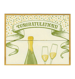 Congratulations Champagne Fold Out Card