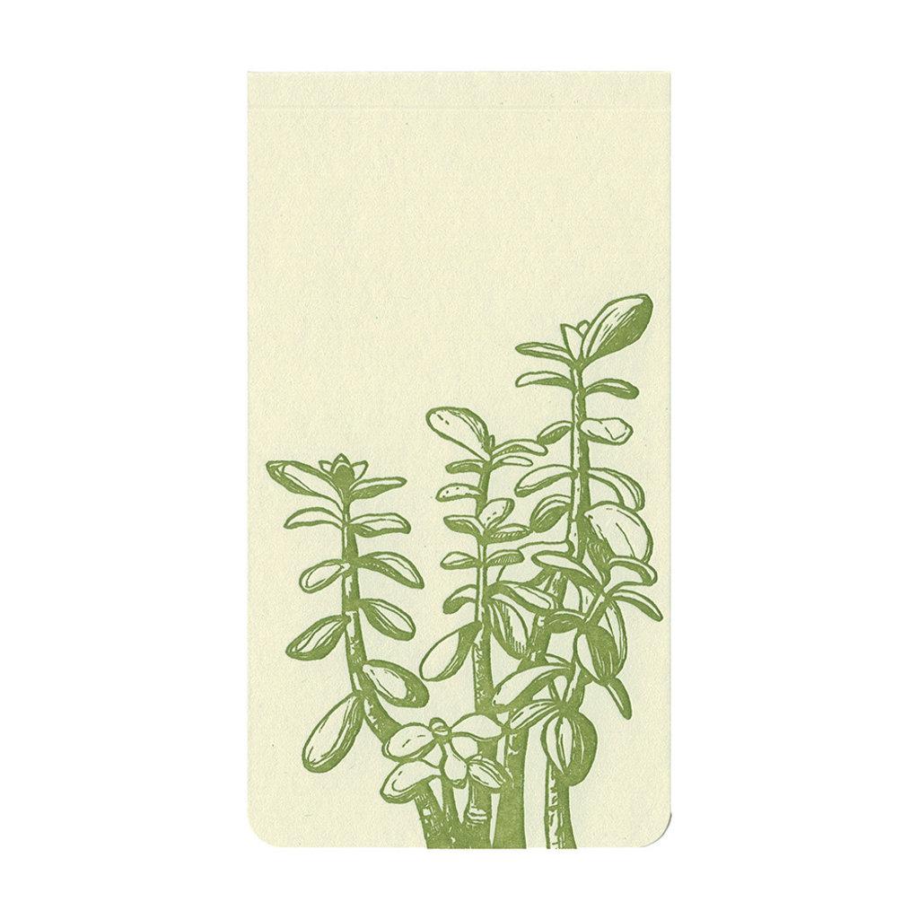 Blackbird Letterpress Jade Plant Small Notepad