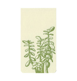 Blackbird Letterpress Jade Plant Small Notepad