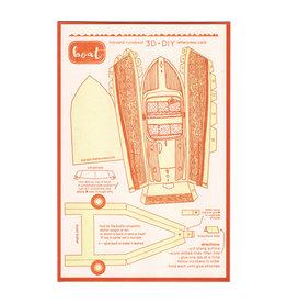Boat 3D Letterpress Card