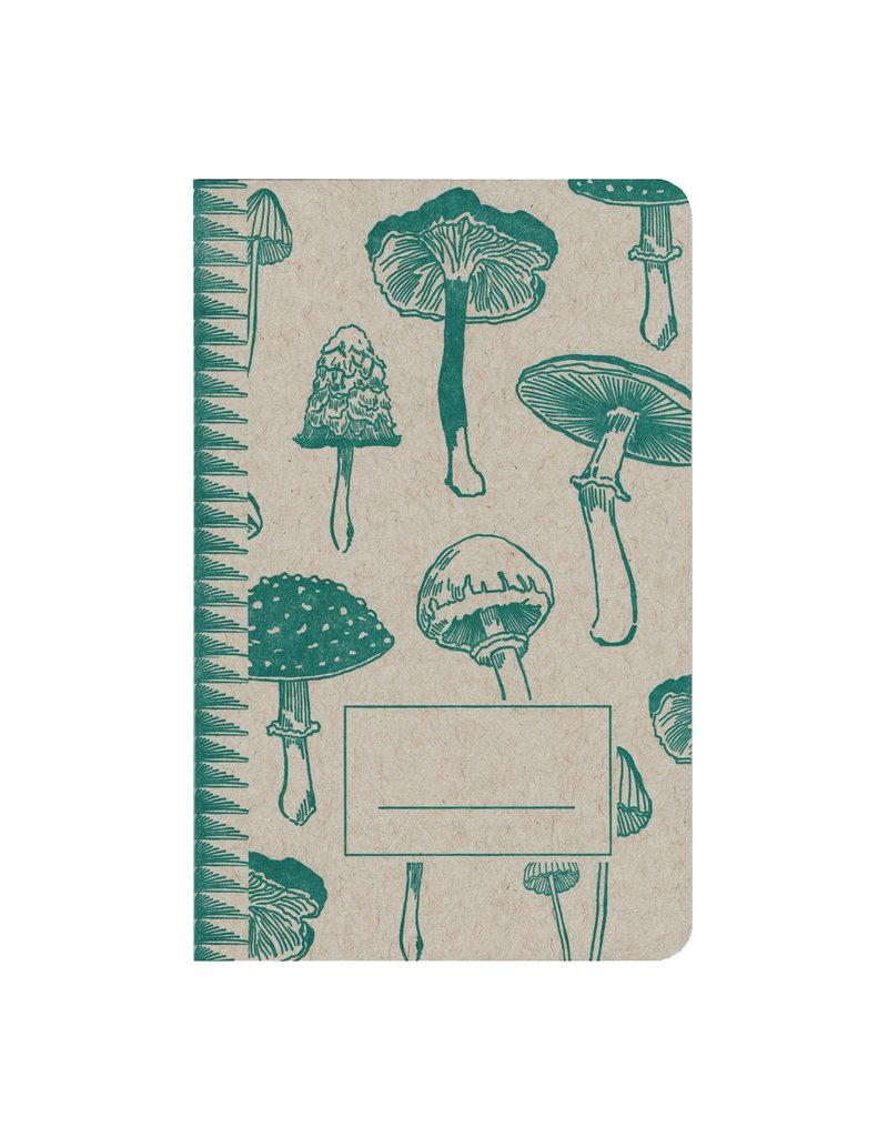 Blackbird Letterpress Mushrooms Notebook