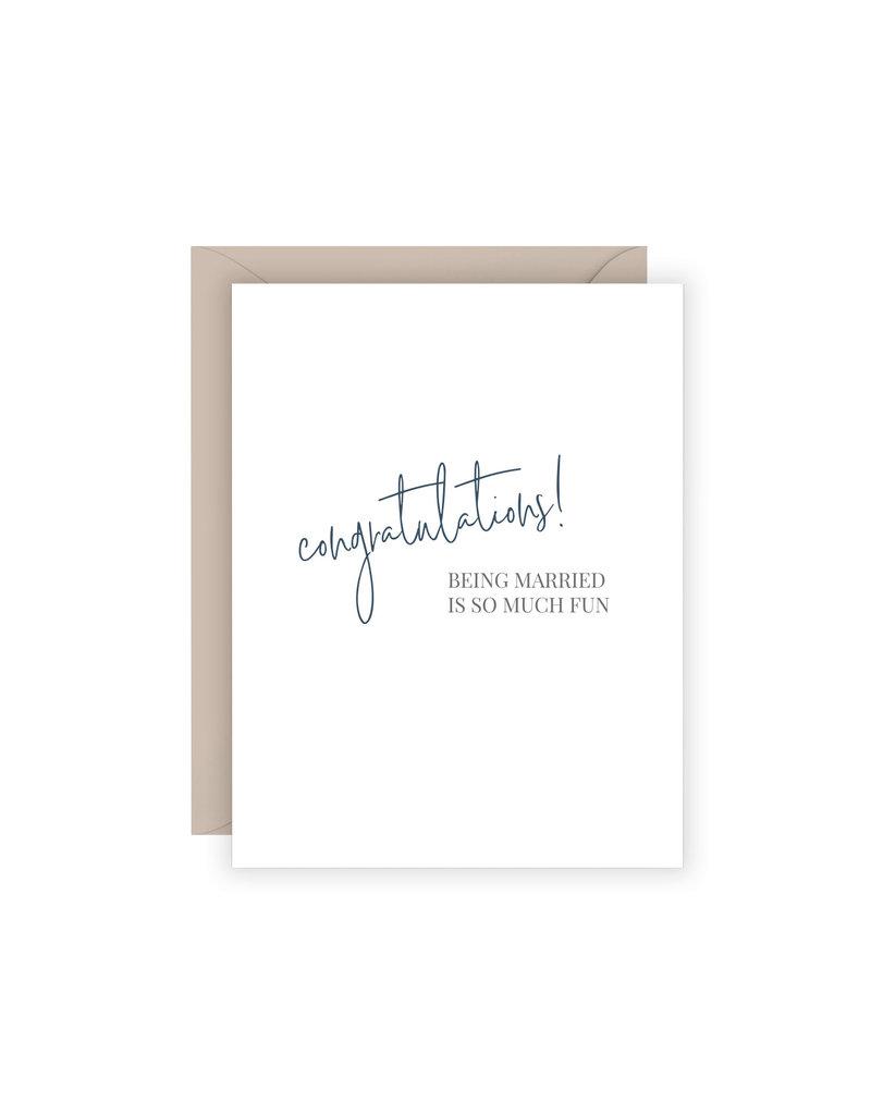 Carina Paper Co. Married Fun Card