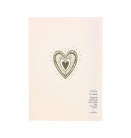 The Little Press Foil Heart Notebook
