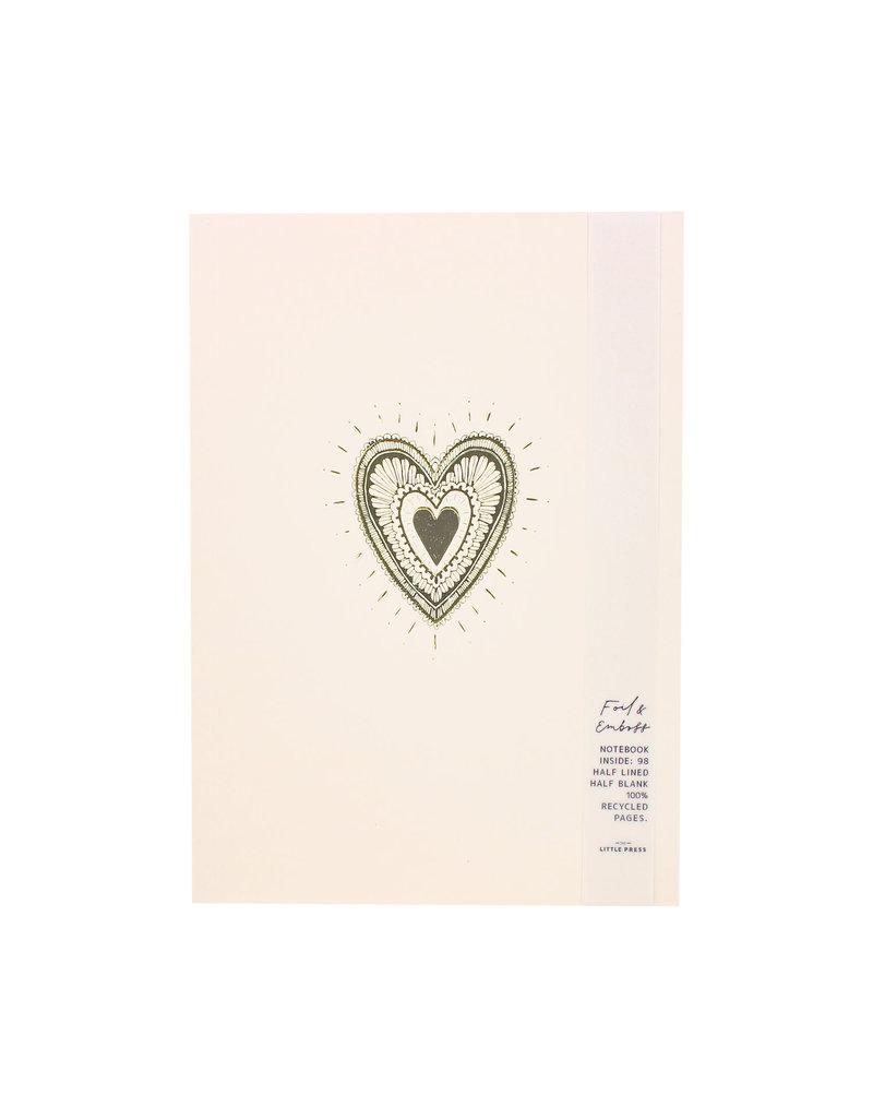 The Little Press Foil Heart Notebook