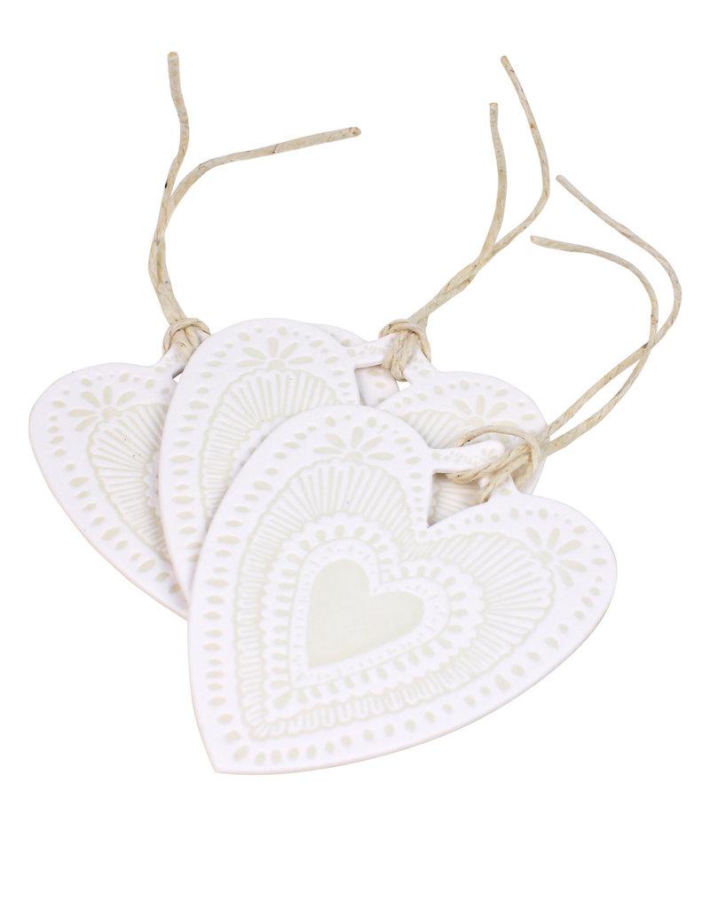 The Little Press Light Grey Heart Tags - Set of 3