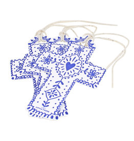 The Little Press Navy Cross Tags - Set of 3