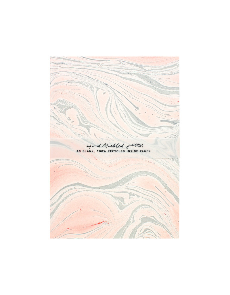 The Little Press Blush Marbled Jotter A6