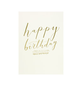 The Little Press Foil- Happy Birthday Gold