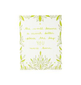Maija Rebecca Hand Drawn Day you were born Greeting Card