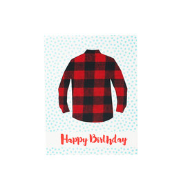 Big Wheel Press Happy Birthday - Flannel