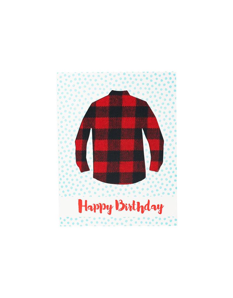 Big Wheel Press Happy Birthday - Flannel