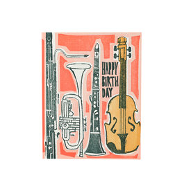 Ilee Papergoods Music Happy Birthday Letterpress Card