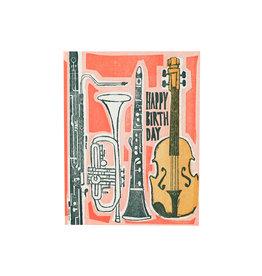 Ilee Papergoods Music Happy Birthday Letterpress Card
