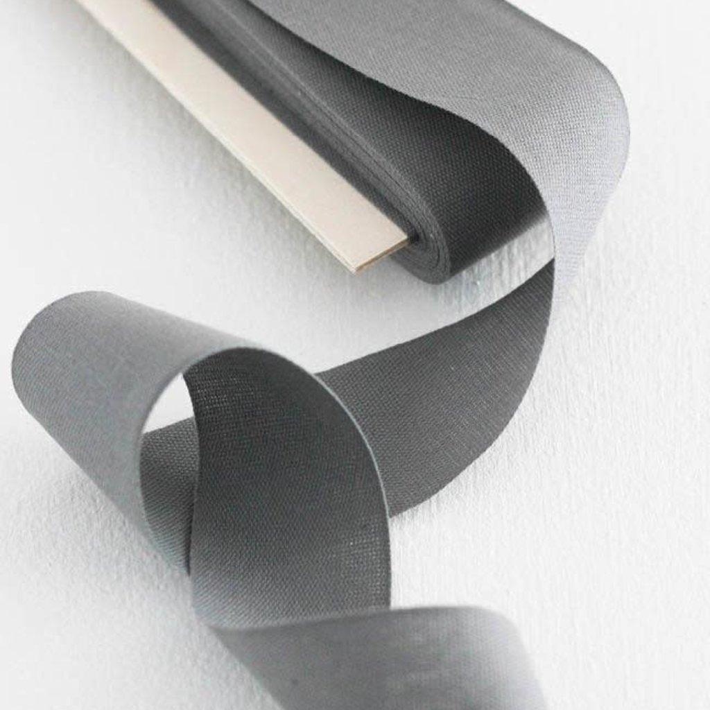 "studio carta Tight Weave Cotton Ribbon 1 1/2"" - Gravel 10 yds"