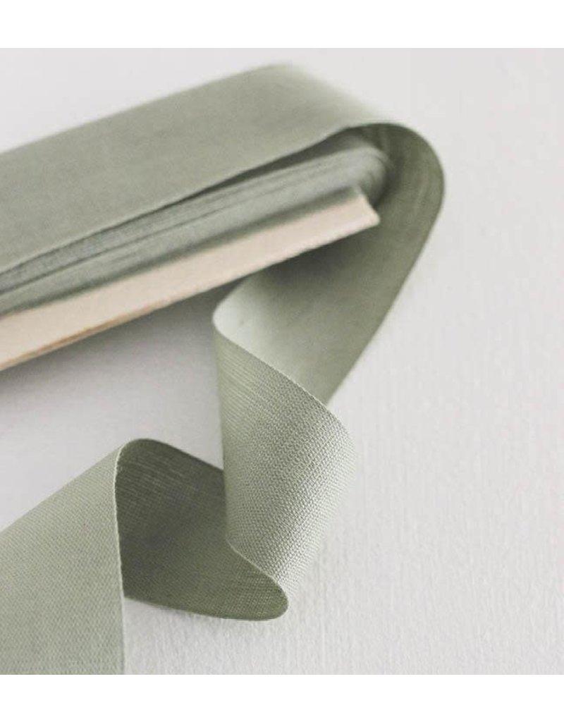 "studio carta Tight Weave Cotton Ribbon 1 1/2"" - Sage 10 yds"
