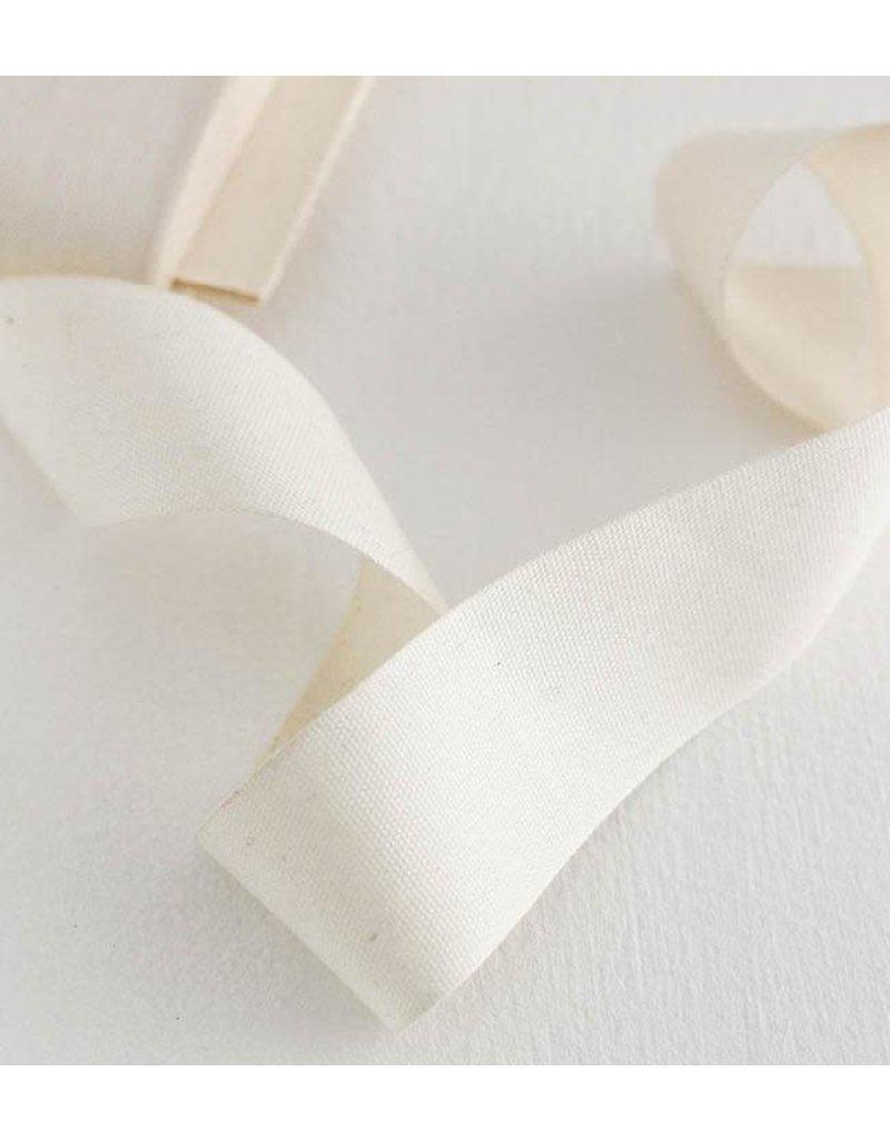 "studio carta Tight Weave Cotton Ribbon 1 1/2"" - Natural 10 yds"