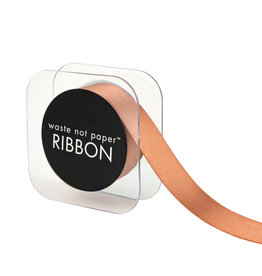 Waste Not Paper Rose gold ribbon 1""